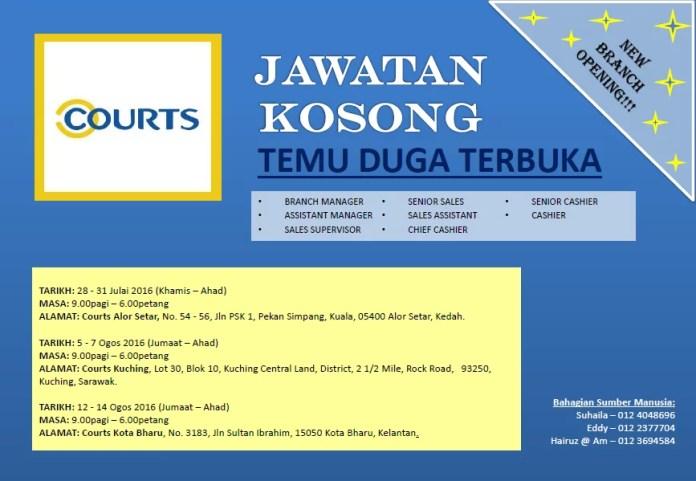 temuduga terbuka courts