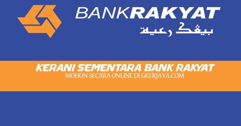 Kerani Sambilan Bank Rakyat 3 Bulan