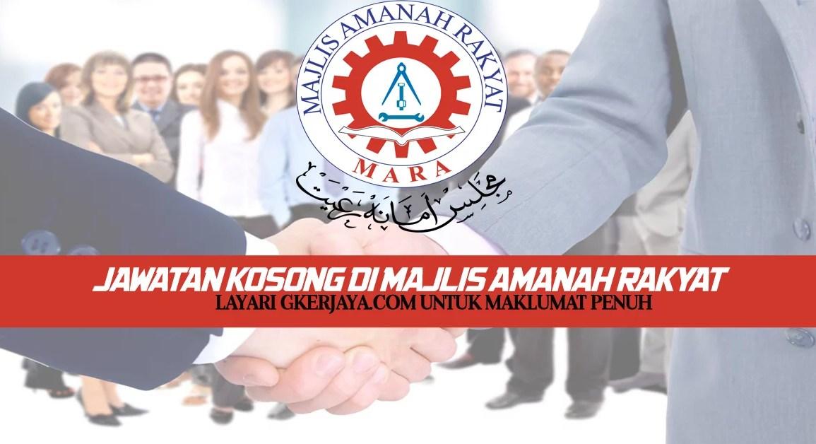 Kerja Kosong Majlis Amanah Rakyat Mara Sarawak