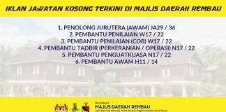 Jawatan Kosong di Majlis Daerah Rembau Negeri Sembilan