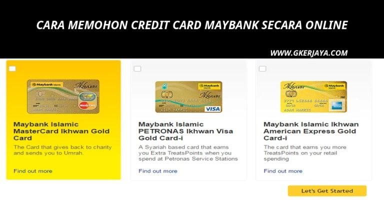 Maybank Credit Card Cara memohon secara Online