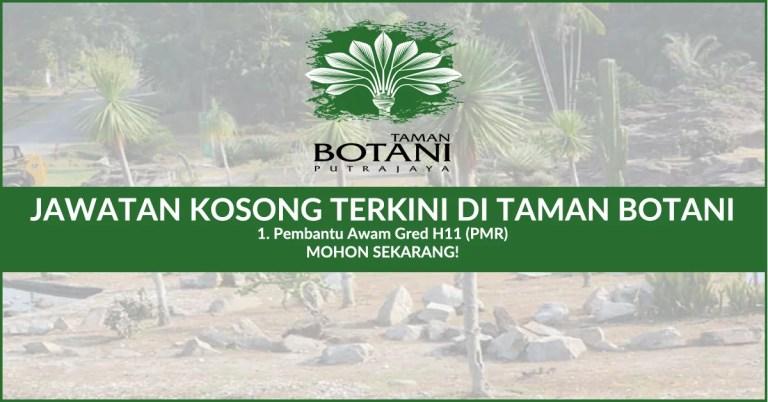 Iklan Jawatan Kosong Taman Botani TBNSA