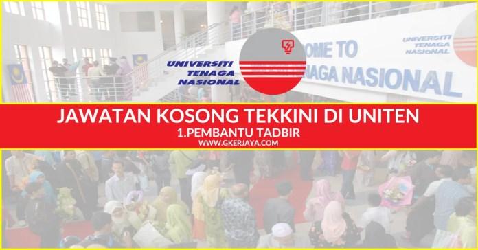 Iklan Jawatan Kosong Universiti Tenaga Nasional