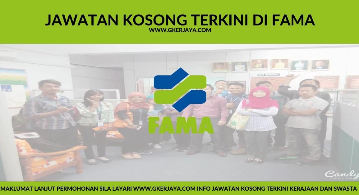 Iklan Jawatan Kosong terkini FAMA 2016
