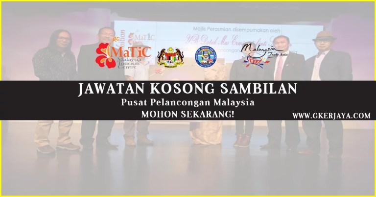 Jawatan Kosong Sambilan di Pusat Pelancongan Malaysia