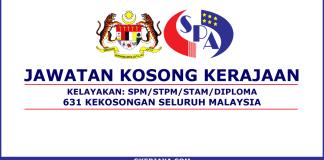 631 Kekosongan Jawatan Kerajaan MAC 2018