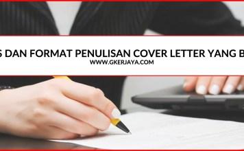 Contoh dan format cover letter yang harus anda tahu