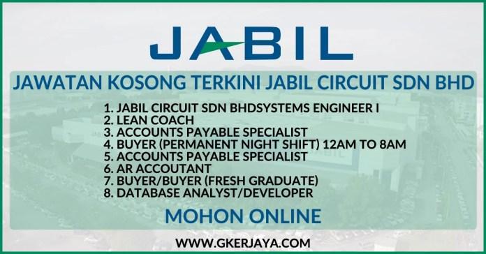 Iklan jawatan Kosong Jabil Circuit Sdn Bhd