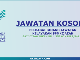Iklan jawatan kosong Pustaka Negeri Sarawak
