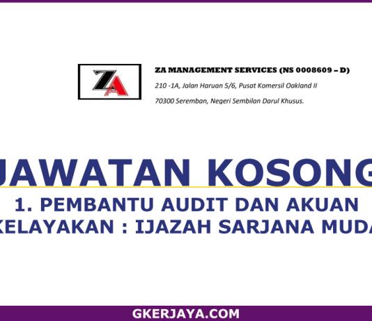 Jawatan Kosong Pembantu Audit dan Akaun