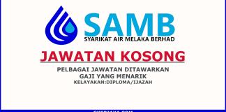 Jawatan Kosong Syarikat Air Melaka Berhad