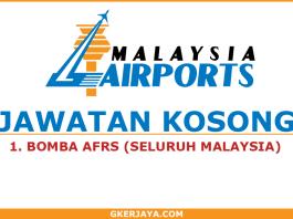 Jawatan kosong Bomba Malaysia Airports Holdings Berhad