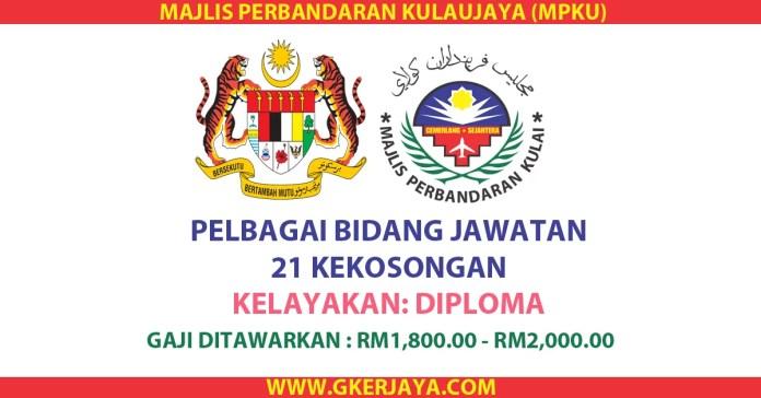 Jawatan kosong Majlis Perbandaran Kulai Jaya (MP