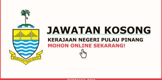 Jawatan kosong kerajaan SUK Negeri Pulau Pinang