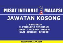 Jawatan kosong pusat internet 1 malaysia pelbagai negeri