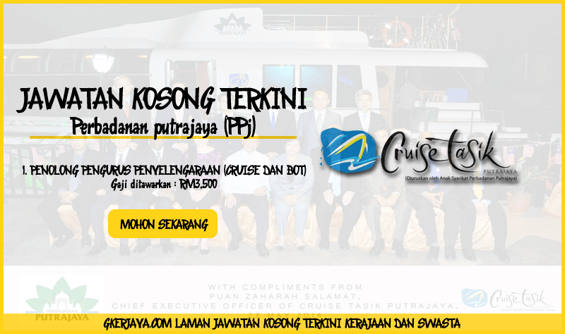 Jawatan kosong terkini Marina Putrajaya Sdn bhd