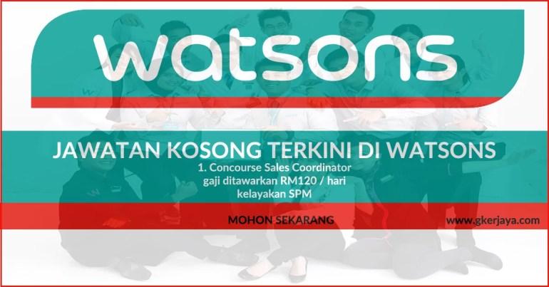 Jawatan kosong terkini Watsons Queensbay Mall Penang
