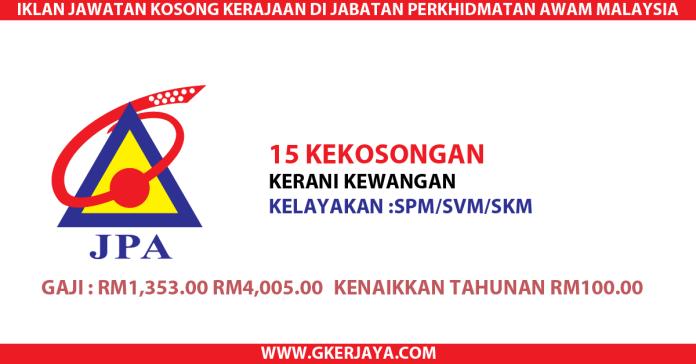 Kerani Kewangan Jabatan Perkhidmatan Awam Malaysia