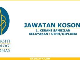Kerani Sambilan Universiti Teknologi Petronas (UTP)