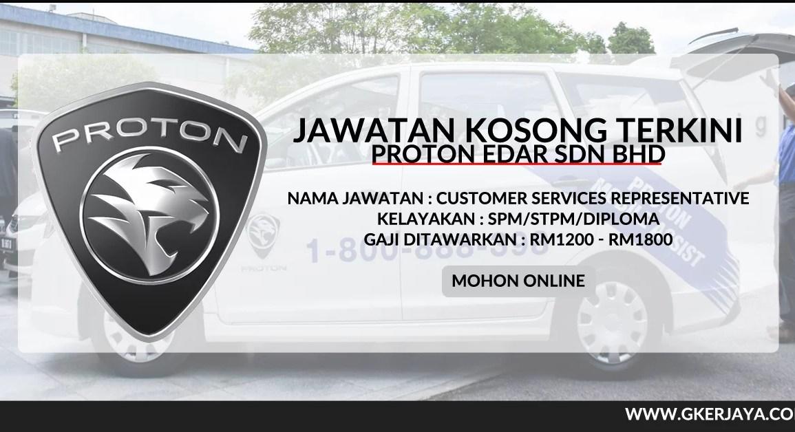 Kerja Kosong Customer Services proton Mohon Online