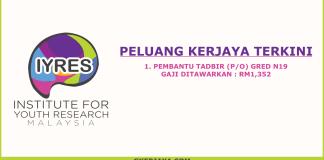 Kerja Kosong Institut Penyelidikan Pembangunan Belia Malaysia