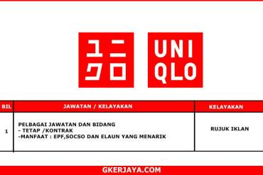 Kerja Terkini Uniqlo Malaysia - Permohonan Online Jawatan Kosong (1)