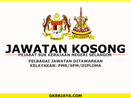 Kerja kosong Kerajaan Negeri Selangor