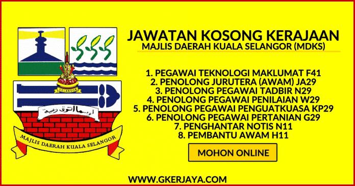 Kerja kosong di Majlis Daerah Kuala Selangor