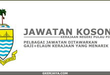 Kerja kosong terkini Kerajaan Pulau Pinang