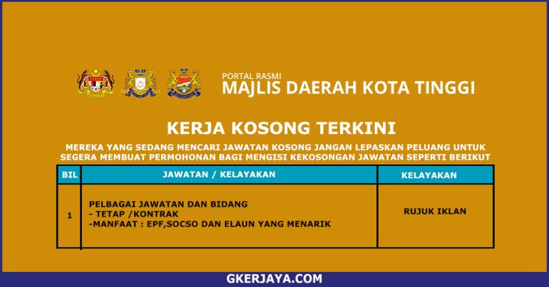Kerja terkini Majlis Daerah Kota Tinggi (1)