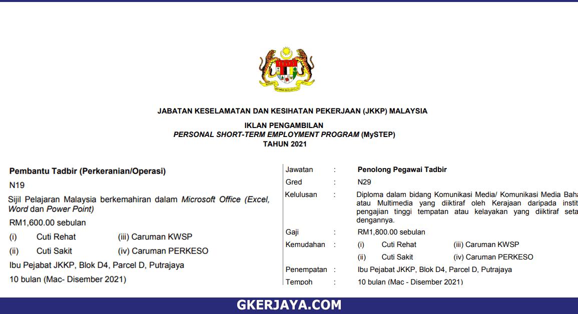 MySTEP Jabatan Keselamatan dan Kesihatan Pekerjaan Malaysia (1)