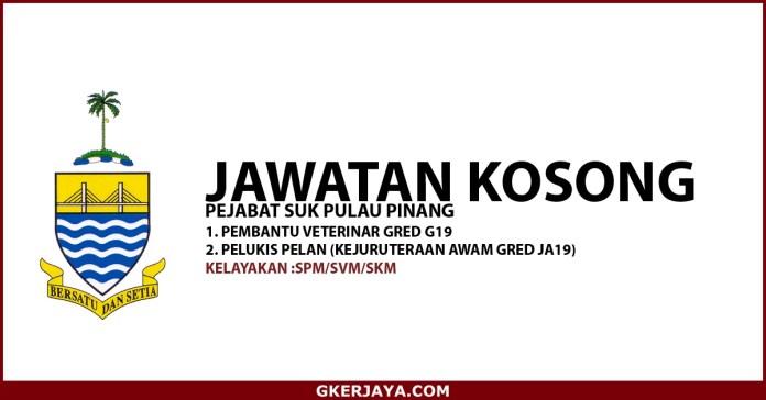 Peluang kerjaya Kerajaan SUK Negeri Pulau Pinang