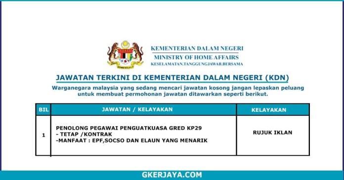 Penolong Pegawai Penguatkuasa Gred KP29 (1)