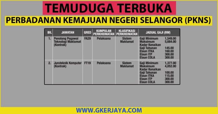 Temuduga terbuka Perbadanan Kemajuan Negeri Selangor