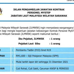 Kerja Terkini Jabatan Laut Malaysia wilayah Sarawak