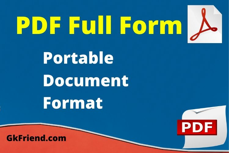 PDF का Full Form - PDF full form in Hindi