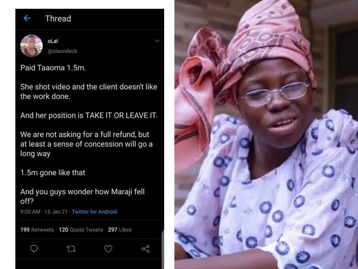 WAHALA!! Taaooma Threatens To Sue Twitter User, Blogs Over Defamation