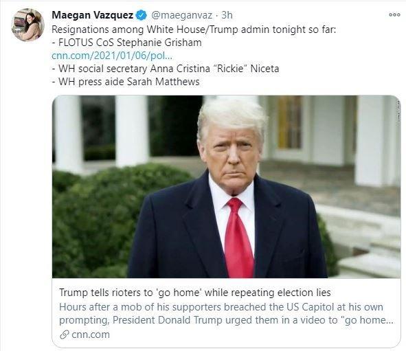 Three White House Staff Resign Including Melania Trump's Chief Of Staff 3