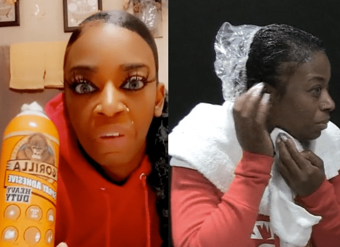 Finally! Woman Who Sprayed Gorilla Glue On Her Hair Is Free (Photos) 1