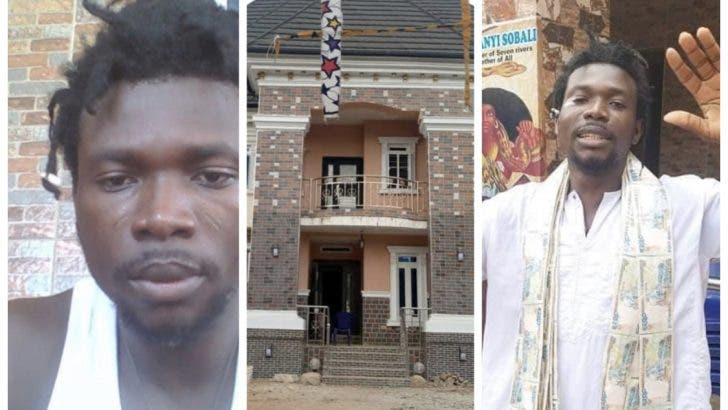 Native Doctor Celebrates His Just Completed Mansion (Photo) 1