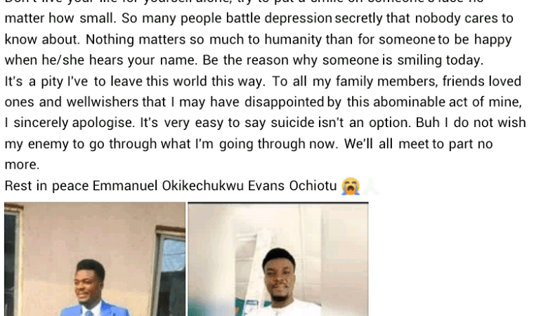 Man With Depression Found Dead Alongside His Girlfriend In Delta Left 'suicide Note' On Facebook 5