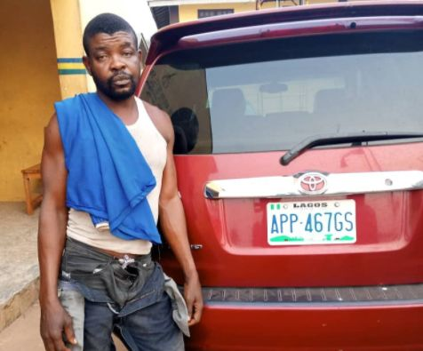 Bursted! Driver Arrested While Allegedly Fleeing With His Boss's Car In Ogun (Photo) 1