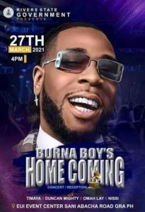 VALID THING or PRIDE?? Burna Boy Charges Rivers State Gov't N100m For Appearance Fee & Private Jet For His Homecoming Concert 5