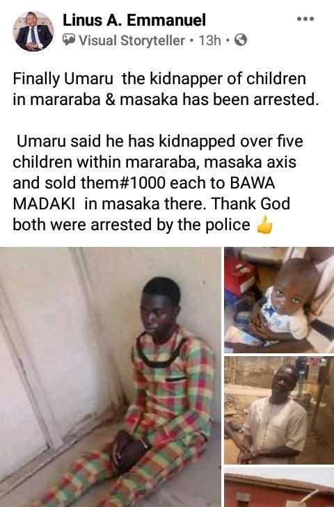 I Receive N1000 For Each Children I Sold – Arrested Kidnapper Confesses 5