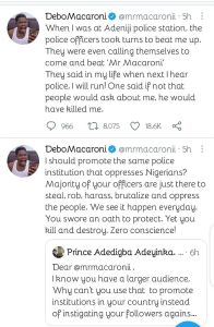 When I Was At The Police Station, The Police Officers Took Turns To Beat Me Up– Mr Macaroni 1