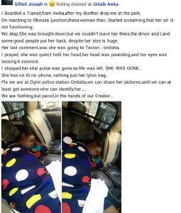 SO SAD!! Unidentified Pregnant Woman Dies Inside A Commercial Bus In Anambra State (Photos) 3