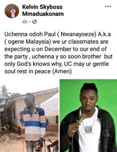 Popular Upcoming Nigeria Artiste Allegedly Shot Dead By Unknown Gunmen In Anambra (Photos) 2