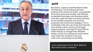 Real Madrid, Barcelona And Juventus Have Not Given Up On The European Super League (See What They Said) 1