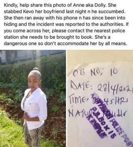 23-Year-Old Woman Allegedly Stabs Her Boyfriend To Death (Photos) 1