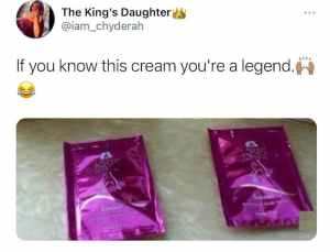 If You Know This Cream, You're A Legend (See Photo) 1